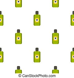 Mouthwash pattern seamless background in flat style repeat...