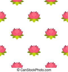 Pink lotus flower pattern seamless