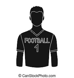 Footballer.Professions single icon in black style...