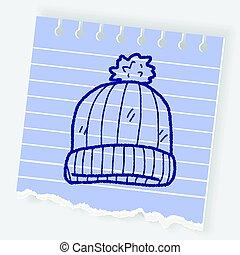 winter hat doodle