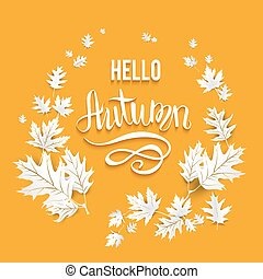 Fall leaves card - Fall leaves template for design...