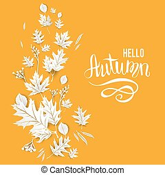 Fall yellow card - Fall yellow template for design...