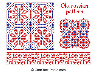 Old russian pattern. - The complete set of patterns similar...