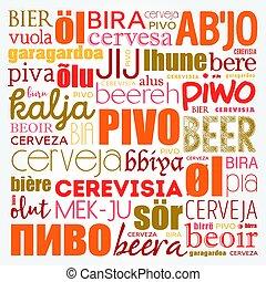 言語, 世界, 別, ビール