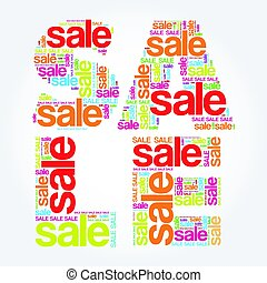 SALE word cloud background, business concept