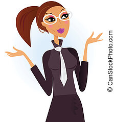 Modern professional businesswoman - Modern portrait of a...