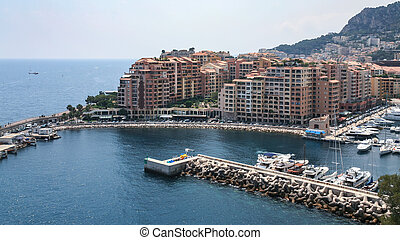 modern residential district in Monaco