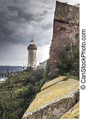 Elba island - Beautiful lighthouse on Elba island on a...
