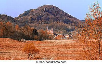 Landscape at fall in Pfaelzer Wald, Germany