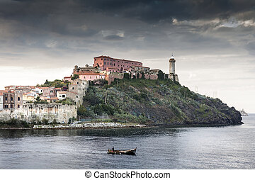 Fortification on Elba - view of the fortification of elba...