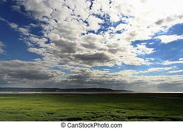 Pont de Normandie - Landschaft