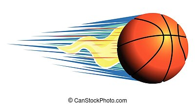 Isolated basketball ball on a white background, Vector...
