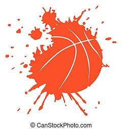Isolated basketball ball with paint, Vector illustration