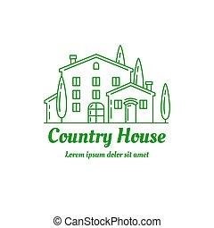 House icon - Country house icon design. ?ountryside villa...