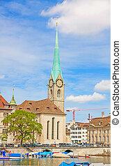 Fraumunster, Zurich - Fraumunster in Zurich, Switzerland