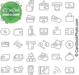 Simple icons collection. Web and mobile app outline icons...