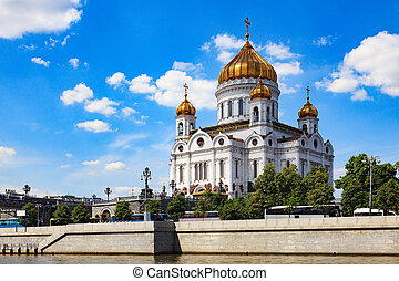 The Cathedral of Christ the Saviour, view from the Moskva...