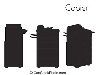 Copier silhouette on white background - EPS 10 vector...