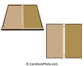 backgammon on white background - EPS 10 vector illustration...