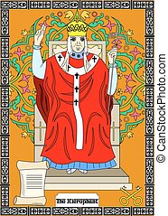 the hierophant card - the illustration - card for tarot -...