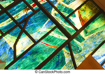 stained glass window - church - Stained glass window -...