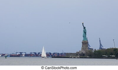 Statue of Liberty off of Manhattan - The Statue of Liberty...