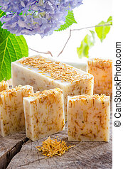 homemade calendula natural herbal soap - homemade calendula...