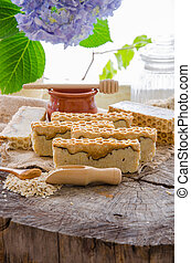 homemade oats and honey soap - homemade oats honey and...