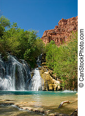 Navajo Falls in Havasu Canyon, Arizona