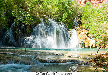 Navajo Falls in Havasu Canyon