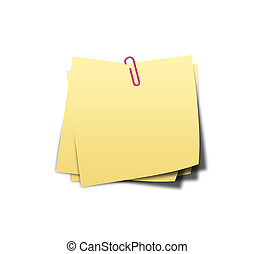 yellow sticky notes on white background