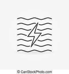 Hydroelectricity minimal icon - vector water energy concept...