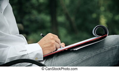 Businessman Working With Documents - Young Businessman...