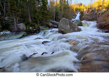 Below Alberta Falls in Rocky Mountain National Park - Spring...