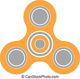 Fidget spinner icon toy for stress relief and improvement of...