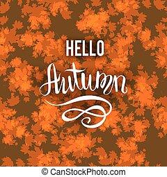 Autumn brown background