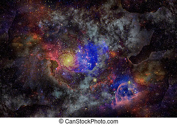 Image of the nebula in deep space. Elements of this image...
