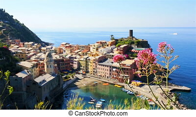 Beautiful view of old Vernazza from above. One of five...