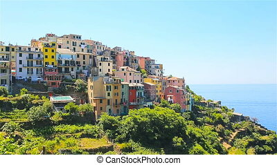Beautiful view of Corniglia from above. One of five famous...