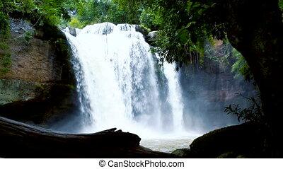 Haew Suwat Waterfall in Thailand
