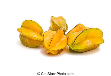 Carambola on a white background