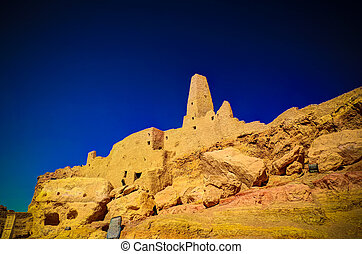 Ruins of the Amun Oracle temple,Siwa oasis, Egypt - Ruins of...