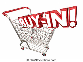 Buy In Shopping Cart Commitment Acceptance 3d Illustration