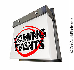 Coming Events Calendar Day Date Upcoming Soon 3d...