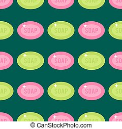 Cleanser soap chemical housework product seamless pattern...