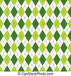 Vector Argyle Seamless Pattern in Soft and Dark Green Color....