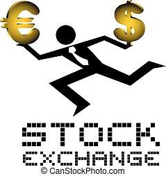stock exchange icon - Creative design of stock exchange icon