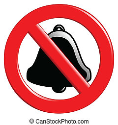 Prohibition of Ringing - Illustration of the sign ban tones...