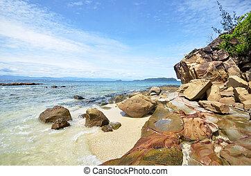 Beautiful sea view at Sabah island - Beautiful sea view at...
