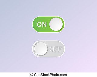 plat, van, knoop, knevel,  switch,  Vector, pictogram